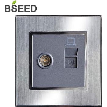 BSEED - Enchufe para afeitadora de baño, voltaje dual, 110 V, 240 ...