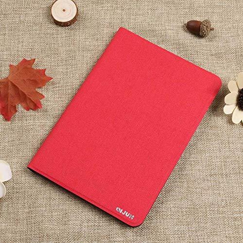 PU-Leder für Huawei Media Pad T1 10 T1-A21W T1-A21L T1-A23L 9.6 Tablet-Hülle Drehhalterung Flip Stand Leder-Hülle-rot