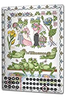 カレンダー Perpetual Calendar Nursery Lindner Welcome frogs Tin Metal Magnetic