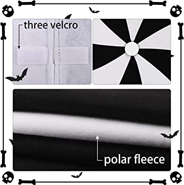 "yuboo Christmas&Halloween Tree Skirt,48"" Black&White Lollipop Decor for Halloween Tree Ornaments and Xmas Decorat"