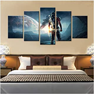 HNFSSK Canvas Painting 5 Pieces Canvas Game Poster Mass Effect Andromeda Home Decor Painting Modern Canvas Printed Pictures Artwork Modular Cuadros-SIZE2