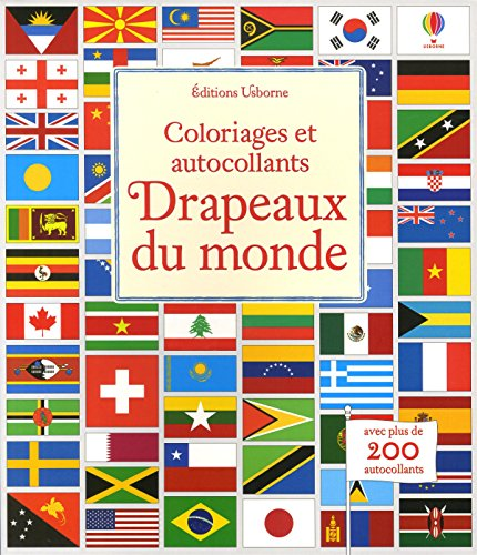 Drapeaux du monde - Coloriages et autocollants