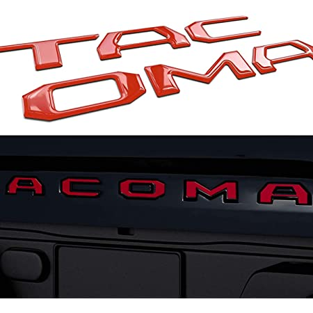Tailgate Insert Letters Compatible with Tacoma 2016-2020 3D Raised & Strong Adhesive Decals Letters, Tailgate Emblems Inserts Letters (Red)