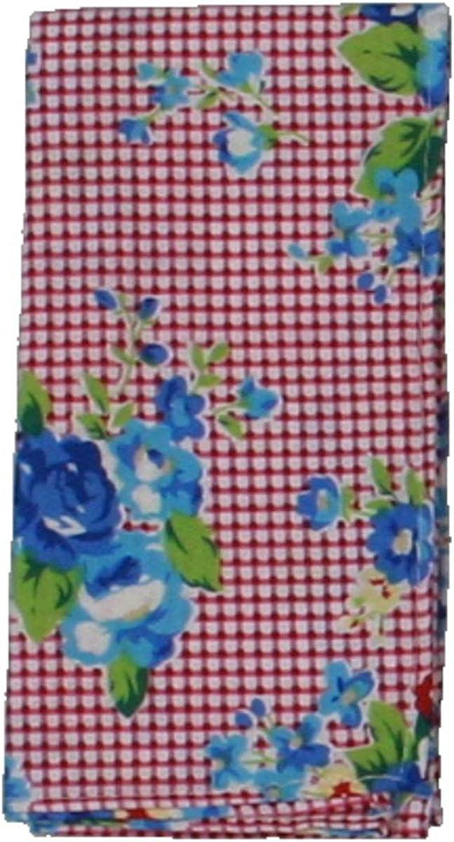 Bar III Mens Gingham Floral Pocket Square