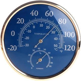 Haia7K4k Grande ronde Thermomètre hygromètre Température Humidité Jauge de moniteur Mètre Bleu