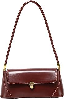 Travistar Handtasche Damen Schultertasche Tasche Kleine Umhängetasche - Abendtasche Elegante PU Leder Feste Schultertasche Multifunktionstasche Taschen,Braun