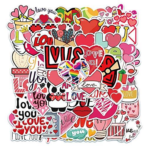 YCYY 50 Cute Pink Love Stickers Student Reward Sticker Suitcase Notebook Decorative Stickers