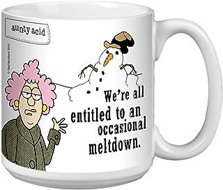 Tree-Free Greetings Extra Large 20-Ounce Ceramic Coffee Mug, Aunty Acid Occasional Meltdown