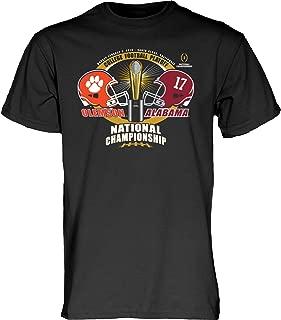 Blue 84 Alabama Clemson 2019 CFP National Championship Game Dueling Black T-Shirt