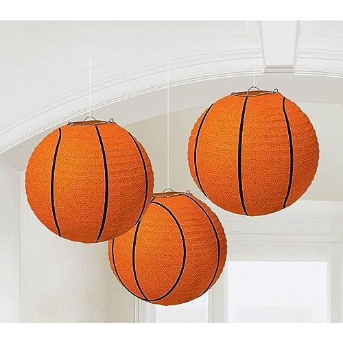 Basketball Paper Lanterns, Party Decoration