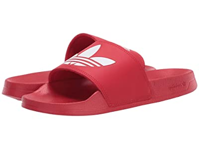 adidas Originals Kids Adilette Lite (Little Kid/Big Kid) (Scarlet/White) Kids Shoes