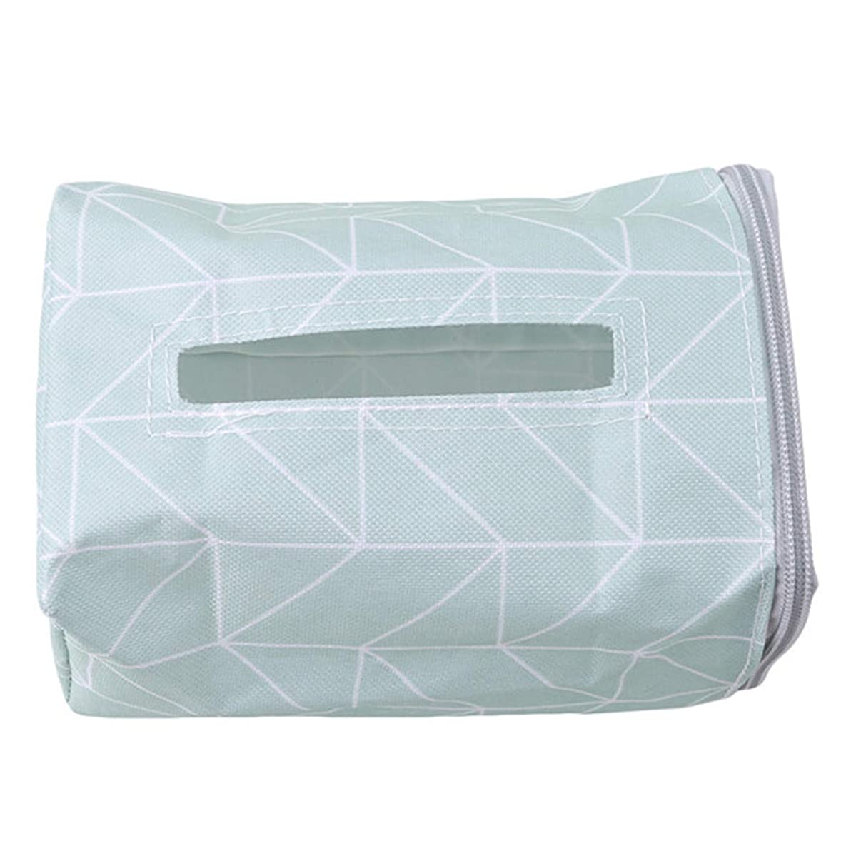 ZALING Car Seat Back Paper Box Tissue Organizer Travel Napkin Holder Blue Rectangle
