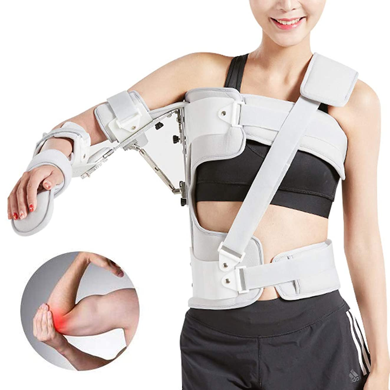 退化するボット問い合わせる調節可能なアームスリング外転枕骨折肘サポートブレース、傷害回復アーム固定、転位回旋腱板滑液包炎腱炎、ワンサイズ - ユニセックス