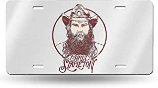 DOULADOU Chris Stapleton Personalized Aluminum Metal License Plate Car Tag Novelty Home Decoration 6