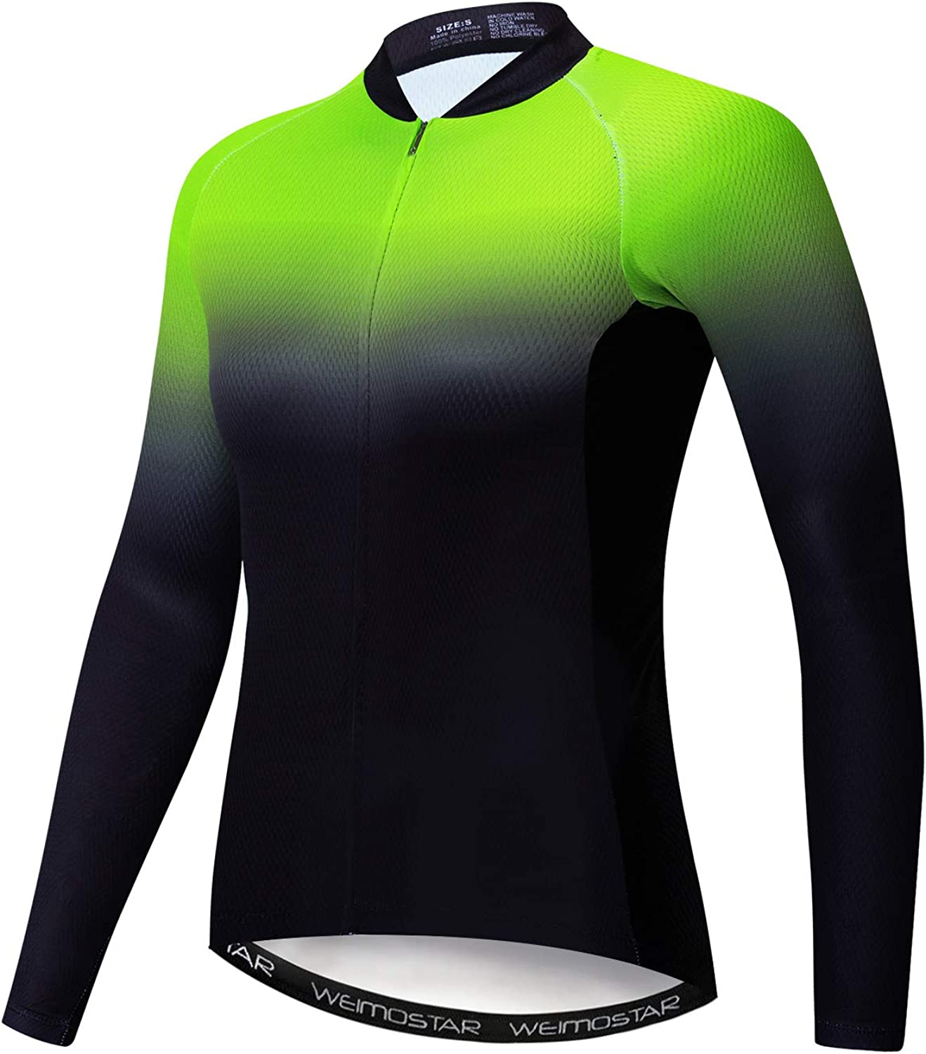 Weimostar Womens Cycling Jersey Long Sleeved Bike Jersey,Comfortable Quick Dry