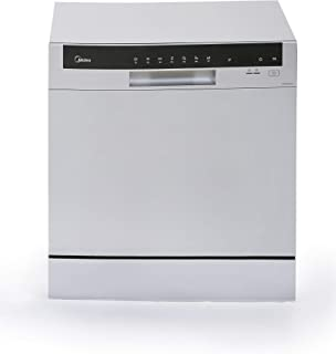 Midea WQP83802F Silver Color 8 Place Portable Dishwasher