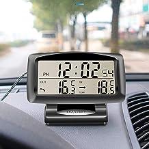 Goliton/® Horloge /électronique et Thermom/ètre de Voiture v/éhicule-Noir