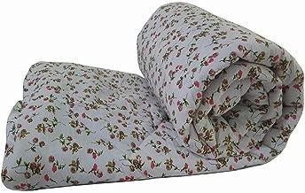 AVI Ultra Soft Printed Cotton Quilted 120 GSM Single Bed Comforter/Blanket/Duvet -60x90 - RED Flower
