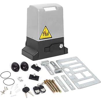 Kit de abridor de puerta corredera automático ajustable de 370 W y 600 kg con llave de liberación de mando a distancia y operador automático de puerta: Amazon.es: Bricolaje y herramientas