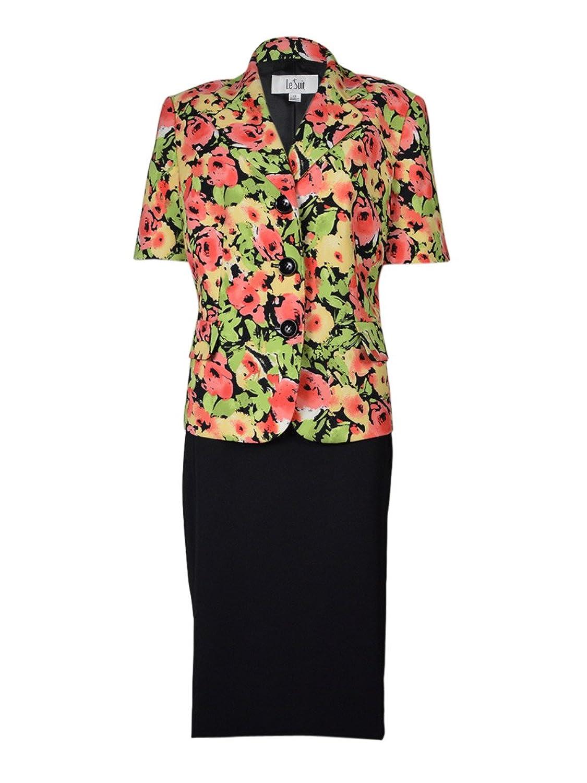 Le Suit Women 's Tropical Blooms FloralSkirt Suit