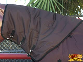 HILASON Lrg 1200D Winter Waterproof Poly Turnout Horse Hood Neck Cover