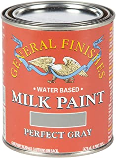 General Finishes PPGY Water Based Milk Paint, 1 Pint, Perfect Gray