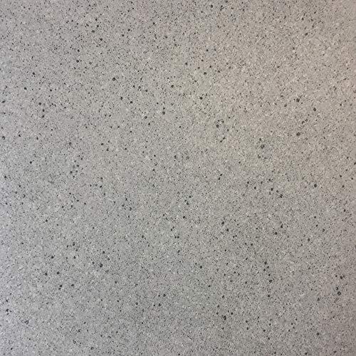 PVC-Boden in Granit-Optik Weiß mit Schaumrücken | Vinylboden 4m Breite & 2,5m Länge | Fußbodenheizung geeignet | PVC Platten strapazierfähig & pflegeleicht | robuster, rutschhemmender Fußboden-Belag