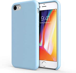 Olixar for iPhone 8 Silicone Case - Soft Slim TPU - Ultra Thin Protective Cover - Wireless Charging Compatible - Pastel Blue