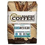 Fresh Roasted Coffee LLC, Organic Mexican Chiapas Swiss Water Decaf Coffee, Medium Roast, Whole Bean, 5 Pound Bag