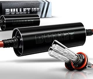 OPT7 Bullet Choice H11 H8 H9 55W Light Bulb with Digital Bullet Ballast Lights - 3x Brighter - 4x Longer Life - All Bulb Sizes Kit Colors - [HID 6000K Lightning Xenon White]