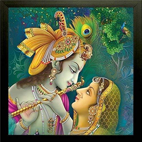 NOBILITY Radha Krishna Max 74% OFF Framed Painting UV Religi Textured Luxury goods Design
