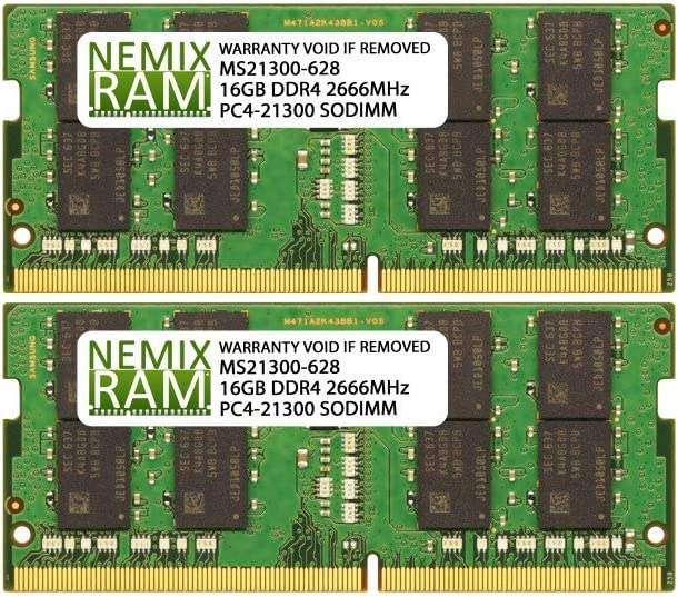 32GB 2x16GB DDR4-2666MHz PC4-21300 2Rx8 Very popular Mem Laptop 1.2V Rapid rise SODIMM