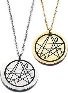 Ciondolo Cthulhu Lovecraft, collana in acciaio inossidabile con stella sigillo Necronomicon gioiello regalo