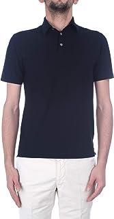 [ZANONE ザノーネ] メンズ アイスコットン ポロシャツ POLO MC 811818 Z0380 Z0542(ネイビー)