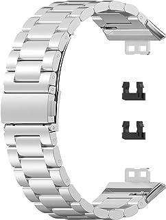 Bracelet de Montre, Bracelet de Montre Compatible pour Montre Intelligente Huawei Watch FIT, Bracelet de Remplacement en A...