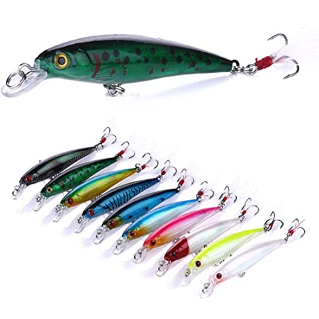 30x Fishing Lures Metal Spinner Baits Lures Bass Tackle Crankbait Minnow Hooks