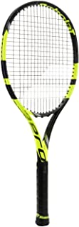 Babolat Pure Aero VS Yellow/Black Tennis Racquet Strung with Custom Racket String Colors (Rafael Nadal's Racket)