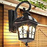 IACON Außenleuchte Wandlampe Retro Vintage Wandleuchte Wandstrahler E27 Schmiedeeisen Wasserdichter Außen Wand lampe Lichter Lampe für Aisle Korridor Landhaus außen Veranda Hof kreativer Garten