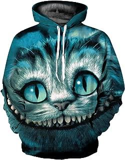 Unisex Simulation Printed Galaxy Pocket Drawstring Hooded Sweatshirt
