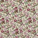 Fabulous Fabrics Baumwollstoff Rose Betty 2 Champagner —