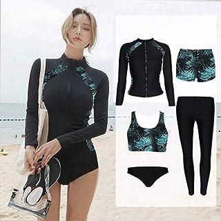 Le donne un pezzo Slim Manica Lunga Spiaggia Nuoto Surf Bagno Costumi Da Bagno