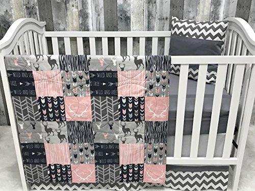 Baby Chevron, Baby Bedding, Woodland, Buck, Deer, Crib Bedding, Nursery Room, Babylooms
