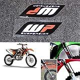 2 Unids/Set Motocicleta Pegatinas para WP Suspensión Moto Horquillas Calcomanías Pegatinas Conjunto Gráfico Logotipo Adhesivo Kit