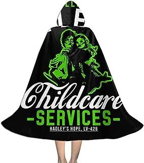 Ellen Ripleys Childcare Services Aliens Unisex Hooded Cloak Cape Halloween Party Decoration Role Cosplay Costumes Black