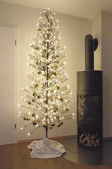 Weihnachtsbaum Rattan LED beleuchtet braun//gekalkt 40 cm hoch NEU Weihnachten