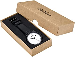 Charisma Analog Leather Watch For Men - white dial