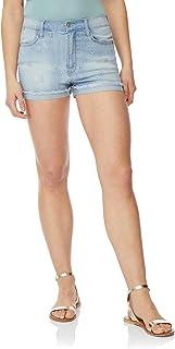 ba483073d5 WallFlower Women's Juniors Embroidered Frayed Denim Short Shorts