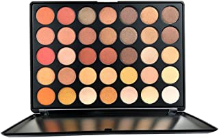 35 Colors Pro Eyeshadow Palette, Pigmented Matte Shimmer Eye shadow Makeup Palette Nature Nude...