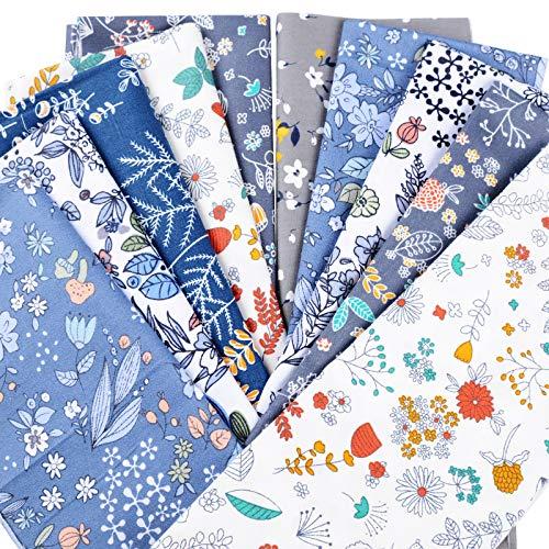 BETESSIN 10 Piezas Telas de Algodón 40x50cm Patchwork Patron Floral Telas para Manualidades Costura Material de Telas Textil Tejido Coser DIY