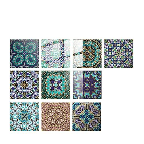 10 adhesivos para azulejos, adhesivos de pared, impermeables, pasta de azulejos, lámina decorativa para azulejos, autopelar y pegar, adhesivos 3D para cocina, baño, 10 x 10 cm (G)